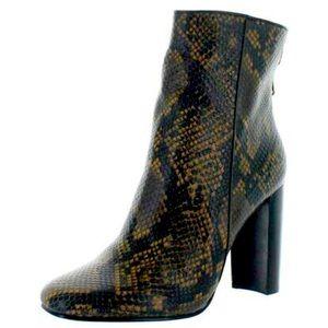 Aqua Soren Leather AlmondToeMid-Calf Fashion Boots